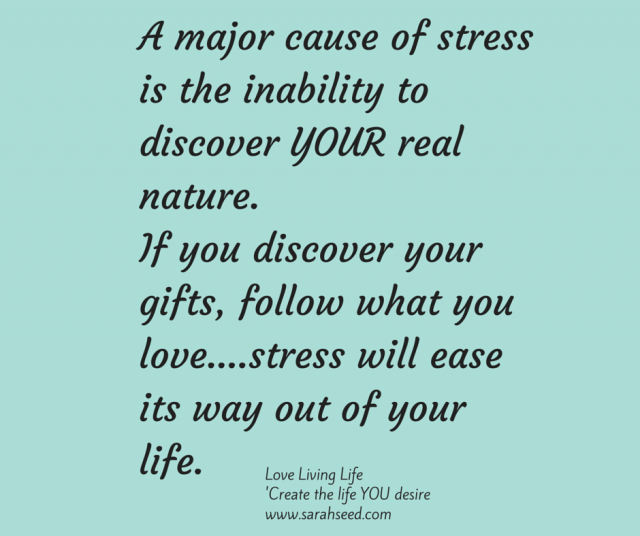 A major cause of stress is an inability