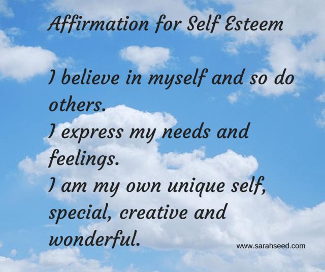Affirmation for Self Esteem