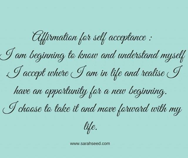 Affirmation for self acceptance