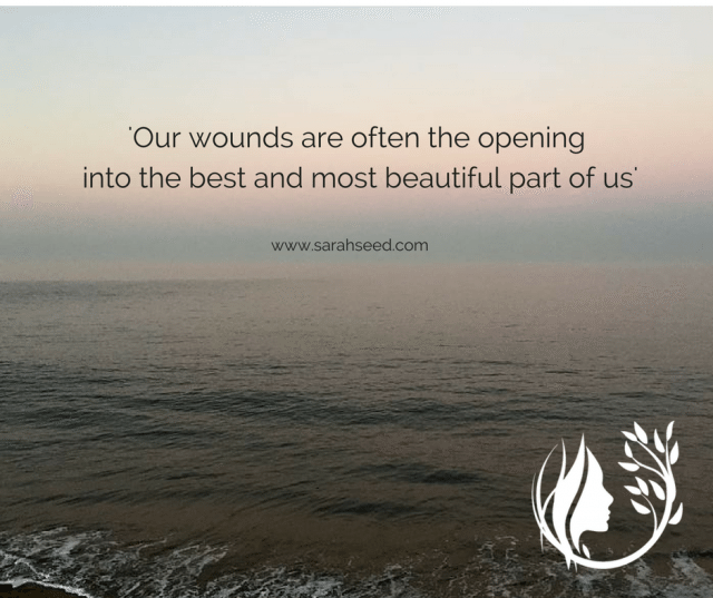 our wounds often open the most beautiful part of us